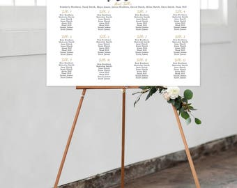 Seating Chart on Foam Core - A Modern Splash (Style 13762)