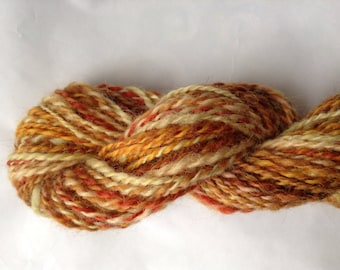 Handspun plant-dyed limited-edition Corriedale wool yarn