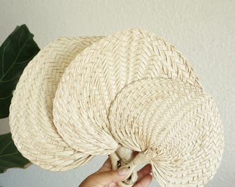 Woven Straw Raffia Fan - Various Sizes