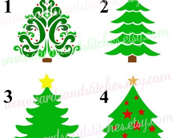 Tree Stencil - Christmas Tree Stencil - Holiday Stencil - Stencils - Craft Stencils - Art Stencils - Great for Wood, Walls and Shirts