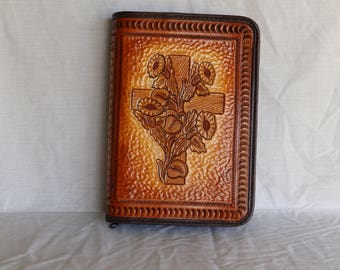 Leather Bible cover Handmade