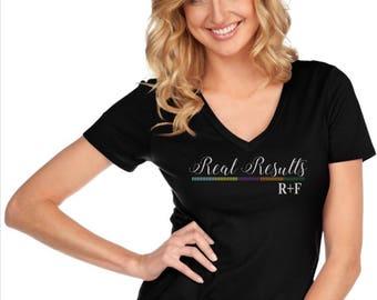 Glitter Real Results Rodan & Fields Custom Rhinestones Glam Bedazzled Shirt -- NEW Item!!