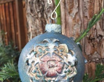Artisan Made Glass Christmas Ornaments, 3.5 inches round
