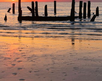 Chasing the Sun, 8X12 inch fine art photo print, signed by me on the back