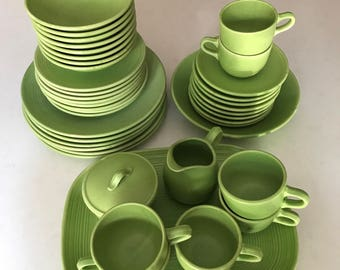 dishware set stoneware dishes royal stone dishes green stoneware vintage dishes