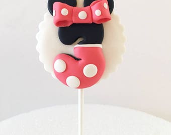 Minnie Mouse Age Topper, Minnie Mouse