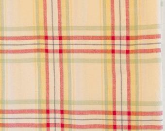 plaid cotton tablecloth