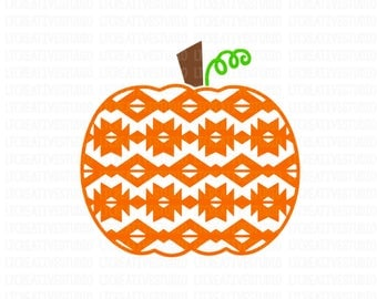 Aztect Pumpkin SVG, Pumpkin SVG, Fall SVG, Thanksgiving Svg, Halloween Svg, Svg Files, Cricut Cut Files, Silhouette Cut Files
