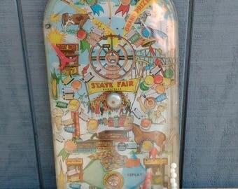 Vintage Marx Toys Pinball Machine - State Fair Pinball - Tabletop Pinball - Antique Toys - Antique Games - Wall Decor - Game Room