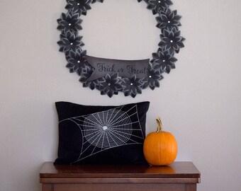 Spider Web Halloween Decor - Pillow Cover - Halloween Decor - 12x16