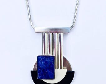 Galalith And Bakerlite Machine Age Necklace