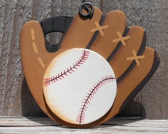 Baseball and Glove Ornament/Party Favor/Gift Tag -- SP2
