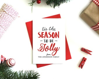 Personalized Christmas Cards - (Set of 5) Custom Christmas Cards, Christmas Card Set, Holiday Cards, Xmas Cards, Personalised