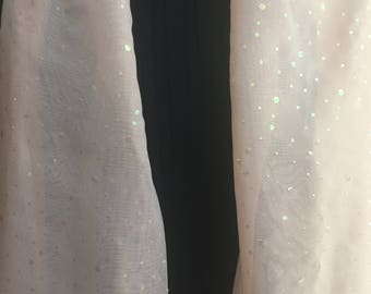Light and Lovely Ecru Scarf with Sparkles