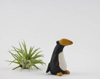 Vintage Ceramic Penguin Figurine made in Korea - Black and White Tuxedo Penguin Collectible