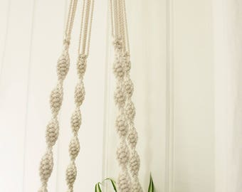 Large Macrame Plant Hanger - Grace, the Double Helix Natural Cotton Rope Hanger, Hanging Planter | Free Shipping Australia