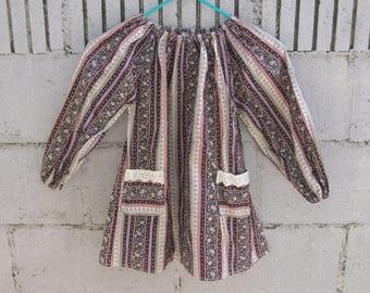 70's Girl's Bloyse Top Prairie Vintage Girl Clothing Youngland Size 7 Gunne Sax Tunic Children's Clothes Western Retro Prairie Top
