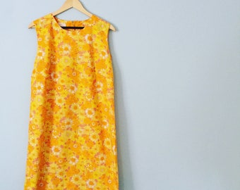 1960's Floral Shift Dress