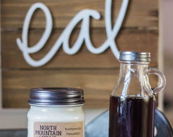 Buttermilk Pancakes | Handmade Soy Wax Mason Jar Candles | Choose Your Size | 4 oz. | 8 oz. | 16 oz. | North Mountain Candle Co.