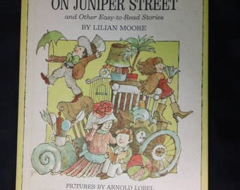 Junk Day on Juniper Street by Lilian Moore and illustrated by Arnold Lobel ~ Vintage 1969 Hardcover Parents' Magazine Children's Book