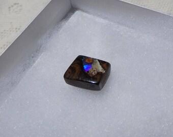 Boulder Opal,' Blue Fire' Un Drilled, 13 Carats, Focal Stone, Jewelry Crafting, Australian Opal, Queensland Opal