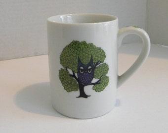 OWL Stoneware Ceramic Mug Takahashi San Francisco Made in Japan