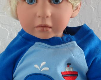 "Reborn 22"" Toddler Boy ""Noah goes deep sea fishing"" doll"
