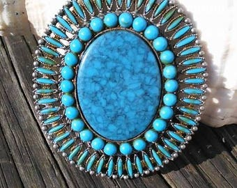 BIG Beautiful Turquoise pendant!!