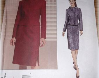 Vogue UNCUT Paris Original Guy Laroche Sewing Pattern Misses 2689 Jacket Skirt Business 6 8 10 FF