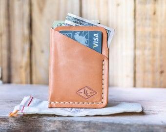 Huge SALE 50% OFF. Thin mens Leather Wallet  HAND Sewn Usa Mens Leather Wallet Minimalist Front Pocket Wallet Slim Wallet Groomsmen gift