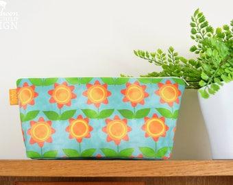 Floral Toiletry Wash Bag / Makeup Bag / Pencil Case / Zip Bag