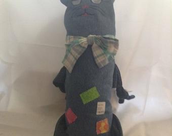 Patchy Denim Cat