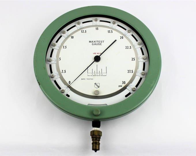 Vintage Ashcroft Type 1080 Maxitest Gauge 30-psi