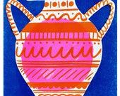Vessel risograph print