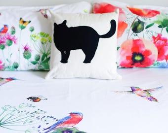 Little cartoon cat, fat cat, black cat, cat lovers, kitty pillow
