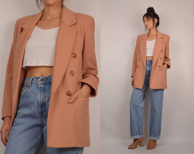 Vintage Appricot Wool Blazer