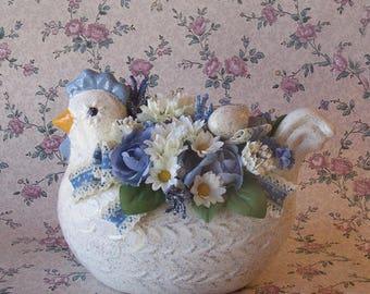Chicken Planter Floral Arrangement