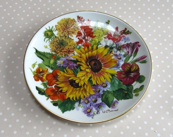 Herbstgold - Autumn Memories Collectable Plate 1987 Hutschenreuther Flowers Floral 2669c - David
