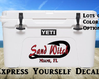 Custom Anchor Boat Name Cooler Decal
