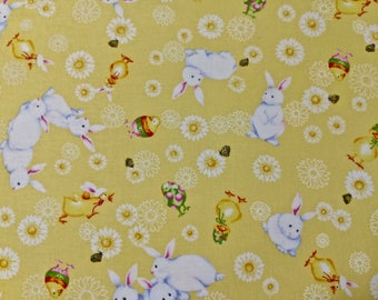 Bunny Print Quilting Fabric 3 2/3 yards long x 44 inches wide