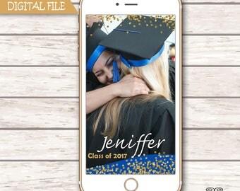 Graduation Snapchat GeoFilter, Grad Geofilter, Confetti Filter, , Personalized Snapchat Filter, Gold Glitter Filter, Reception