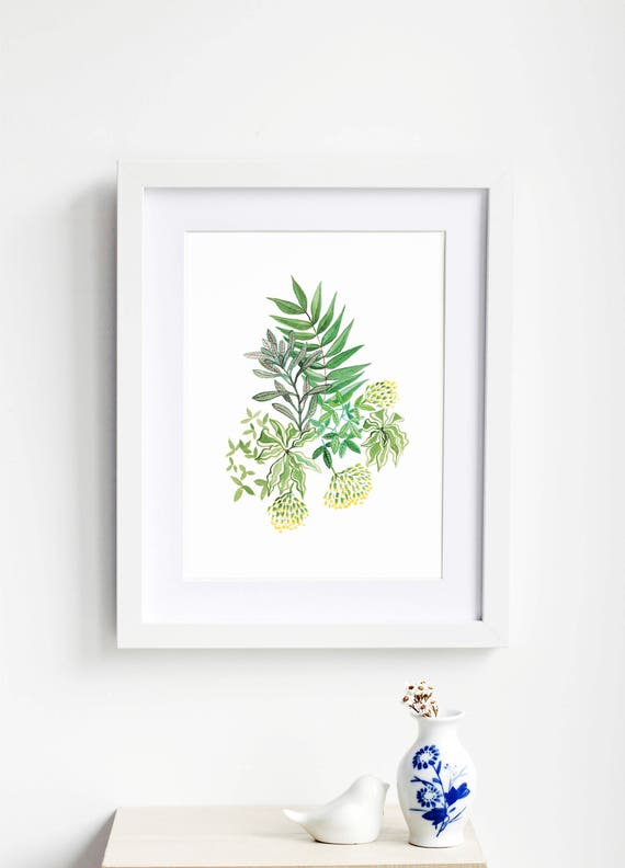 Leafy Bouquet Art Print