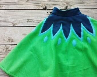 SALE Prototype Frozen inspired Green Anna Swing Cape/Cloak - size 4/5