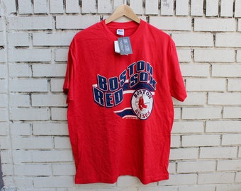 Deadstock BOSTON RED SOX Shirt size xl x-large Trench tag vtg mlb baseball sports athletic double tshirt red sox