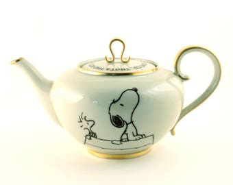 Snoopy Comic Strip, Altered Art, Peanuts Vintag Porcelain Teapot, Keep Looking Up, Cartoon Art, Positive Quote,Inspirational,  Affirmation