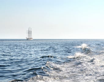 Cape Cod sailing the waves - horizontal printed photograph