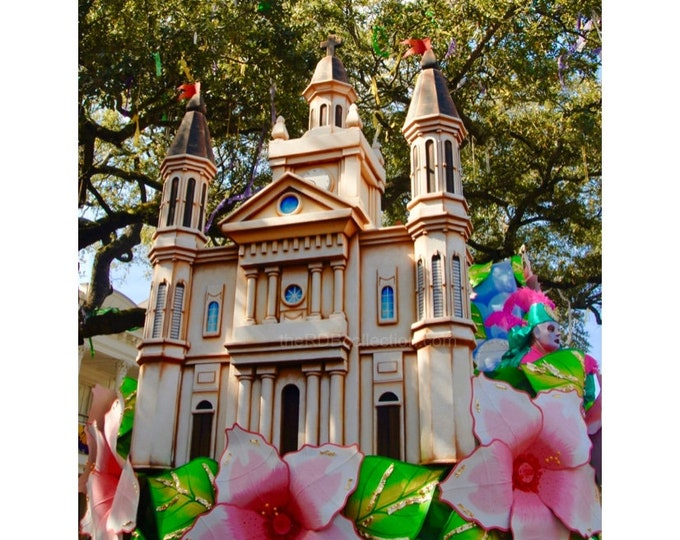 St. Louis Cathedral Mardi Gras  Float Photograph