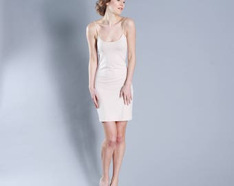 Body con jersey dress nude