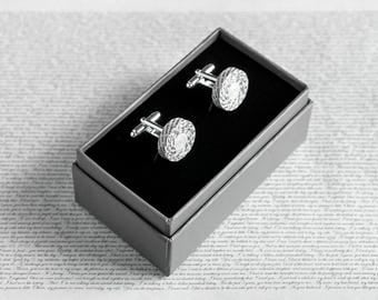 First Anniversary Gift for Husband, Personalised Paper Cufflinks, Custom Engraving