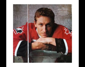 Gretzky 'The Great One' photo spread Vanity Fair 1997.  Edmonton Oilers and LA Kings great.  BEST NHL player ever.  2 pages  Ready Frame